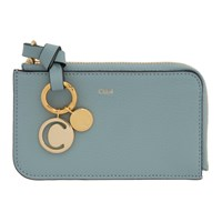 Chloe Blue Alphabet Zip Card Holder