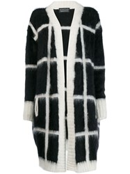 Gianluca Capannolo Oversized Check Cardigan Black