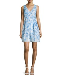Erin Fetherston Sleeveless Floral Print Pleated Cocktail Dress Women's