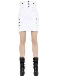 Isabel Marant High Waisted Stretch Cotton Denim Skirt