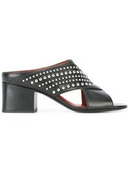 3.1 Phillip Lim Studded Trim Sandals Black