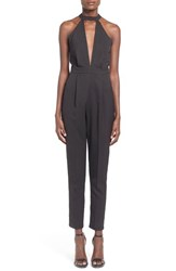 Missguided Women's Cutout Halter Jumpsuit