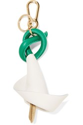 Loewe Leather And Suede Keychain White
