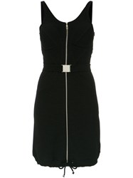 Amir Slama Short Zipped Dress Cotton Black