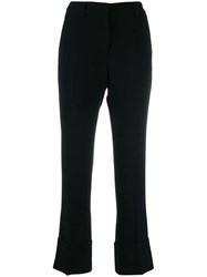 Alberto Biani Slim Fit Crepe Trousers Black
