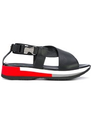 Philippe Model Platform Buckled Sandals Women Calf Leather Leather Rubber 40 Black