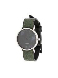 South Lane Avant Diffuse Watch Calf Leather Stainless Steel Glass Green