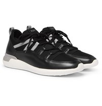 Tod's Leather And Neoprene Sneakers Black