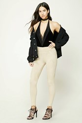 Forever 21 Faux Suede Leggings Taupe