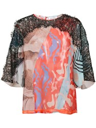 Yigal Azrouel Surfboard Print Blouse Polyester Red