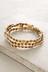 Anthropologie Penny Wrap Bracelet Gold