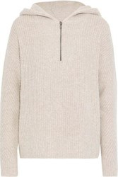Line Woman Lauren Ribbed Terry Hooded Sweater Neutral