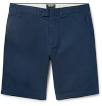 Todd Snyder Hudson Slim Fit Wool Twill Chino Shorts Navy