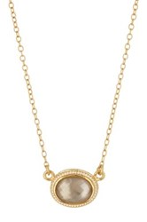 Anna Beck 18K Gold Plated Sterling Silver Smokey Quartz Pendant Necklace Metallic
