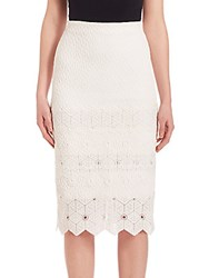 Rebecca Taylor Dia Lace Skirt Navy