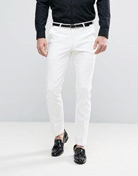 Noose And Monkey Super Skinny Suit Trousers White