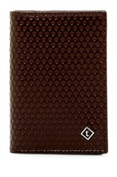 A. Testoni Nido Ape Leather Business Card Case Brown