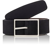 Simonnot Godard Men's Reversible Nubuck Belt Black