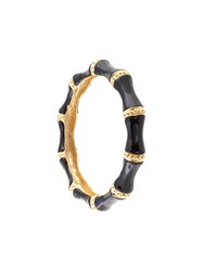 Kenneth Jay Lane Wide Bangle Black