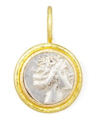 Elizabeth Locke Ancient Greek Silver And 19K Gold Coin Pendant