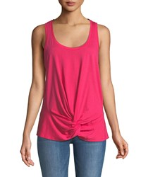 7 For All Mankind Twist Front Racerback Tank Pink