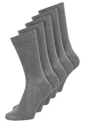 Zalando Essentials 5 Pack Socks Dark Grey Dark Gray