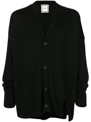 Wooyoungmi Fine Knit Button Cardigan Black