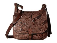 Patricia Nash London Saddle Bag Dark Brown Handbags