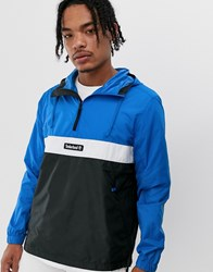 Timberland Funnel Neck Pull Over Jacket Blue
