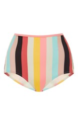 Solid And Striped Brigitte High Rise Bikini Bottoms Stripe