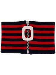 J.W.Anderson Jw Anderson Horizontal Stripes Neckband Red