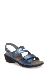 Wolky Women's Fria Sandal Blue Nubuck Leather