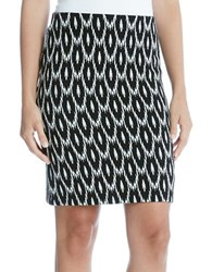 Karen Kane Printed Pencil Skirt Black