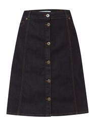 Dickins And Jones Denim Button Down Skirt Indigo