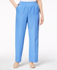 Alfred Dunner Mid Rise Pull On Pants Hydrangea Blue