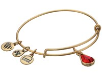 Alex And Ani Swarovski Teardrop Color Code Bangle July Rafaelian Gold Ruby Bracelet