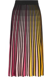 Kenzo Ribbed Cotton Blend Midi Skirt Pink