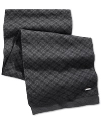 Ryan Seacrest Distinction Ryan Seacrest Hashtag Heather Knit Scarf Only At Macy's Black Grey