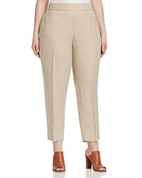 Eileen Fisher Plus Tapered Ankle Pants Natural