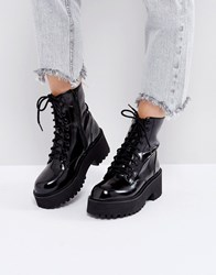 Sixty Seven Sixtyseven Chunky Sole Lace Up Boots Black Hishine