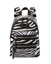 Zebra Print Biker Backpack Off White Black Off White Multi Marc Jacobs