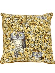 Fornasetti Owl Print Pillow Yellow