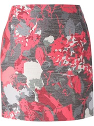 Antonio Berardi Floral Jacquard Mini Skirt Grey