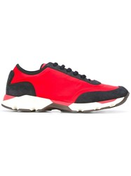 Marni Colour Block Low Top Sneakers Red