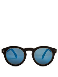 Illesteva Leonard Mirrored Sunglasses Black Multi