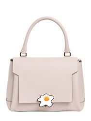 Anya Hindmarch Small Egg Lock Leather Satchel Bag
