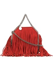 Stella Mccartney 'Falabella' Fringed Tote Red