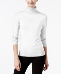 Calvin Klein Ribbed Turtleneck Sweater Birch