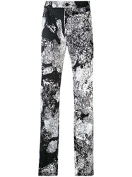 Lost And Found Ria Dunn Printed Slim Fit Trousers Men Cotton Spandex Elastane S Black