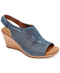 Rockport Briah Wedge Sandals Women's Shoes Teal